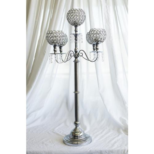 Acrylic Beaded 5 Ball Candelabras