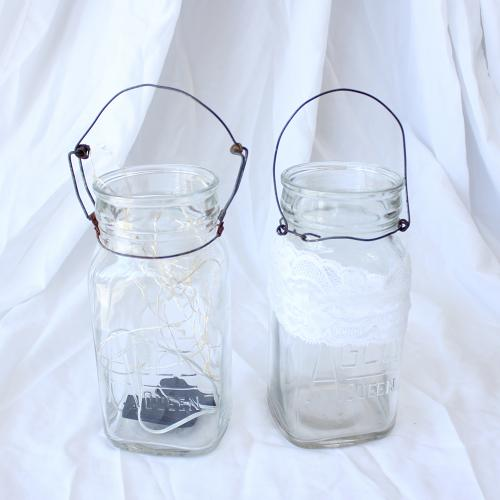 Mason Preserving Jars with Wire Handles