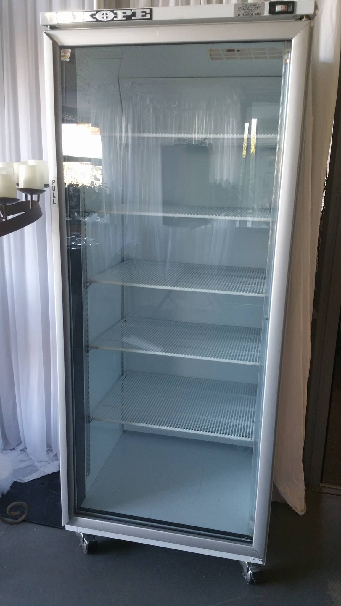 Glass fronted bar fridge