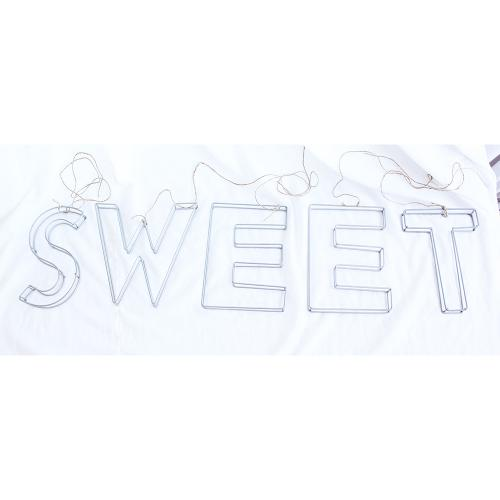Wired Metal Letters 'Sweet'