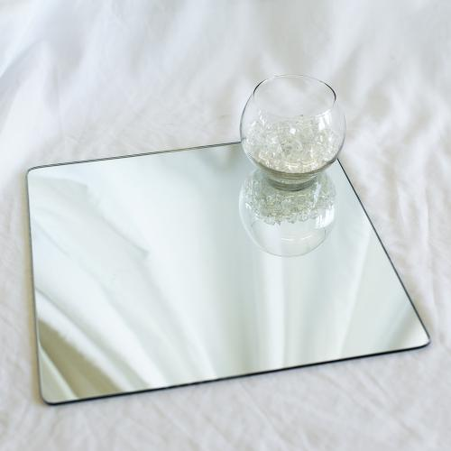 Square Table Display Mirror Plates (30cm)
