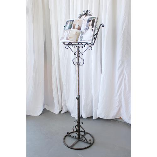 Wrought Iron Rustic Music Stand
