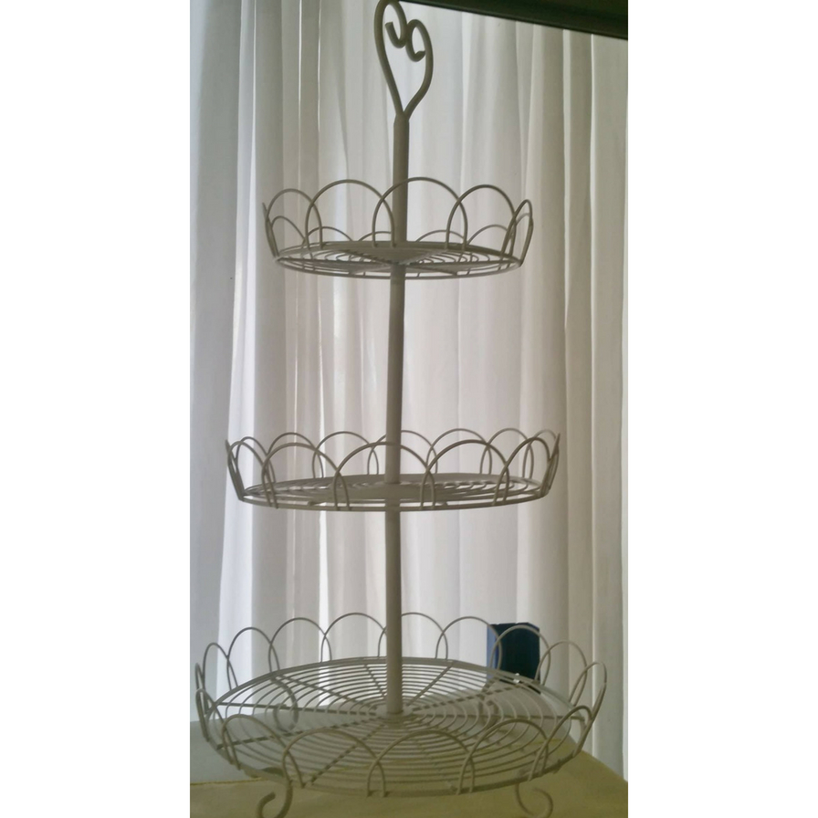 Three Tier Cupcake Stand (with Filigree Basket)