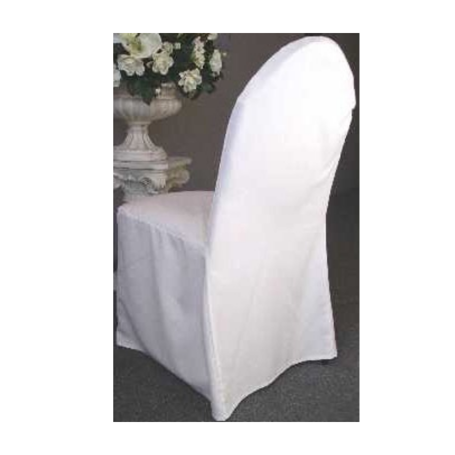 Scuba Stretch Chair Covers - White